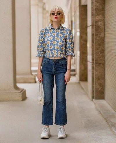 Các nàng nên chọn những kiểu quần jeans ống loe phù hợp với cơ thể.