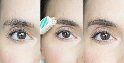 Nếu không có chổi chải lông mày bạn có thể dùng bàn chải đánh răng.
