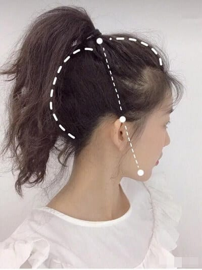 Khi buộc tóc nên tạo độ phồng và lỏng cho tóc để tạo cảm giác tóc dày hơn