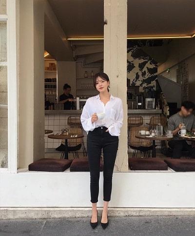Quần skinny jeans màu đen tạo hiệu ứng chân thon, dài - Ảnh 3