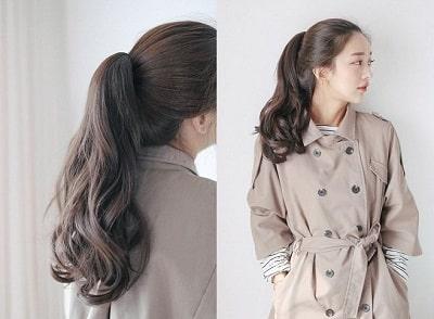 Mái tóc mỏng sẽ trở nên bồng bềnh hơn với kiểu uốn chữ S.