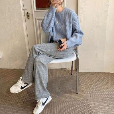Áo sweater + Quần ống rộng Ulzzang: Ảnh 4