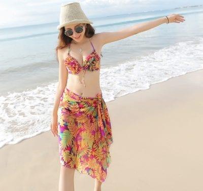 Quần lót Brazilian Brief dùng cho bạn nữ mặc Bikini hoặc quấn khăn Sarang