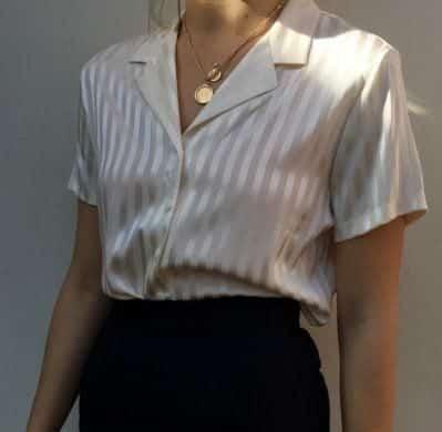 Áo kiểu tay ngắn đơn giản, tiện lợi - Ảnh 2