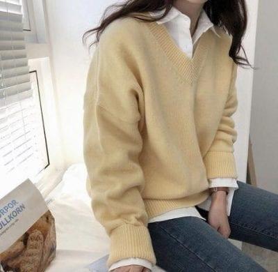 Áo sweater + Áo sơ mi: Ảnh 2