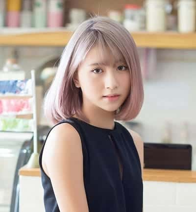 Mẫu tóc ngắn Hàn Quốc duỗi phồng