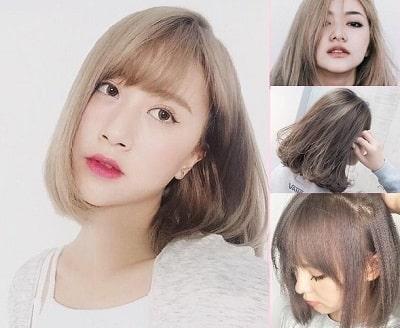 Màu tóc nâu tây ánh vàng