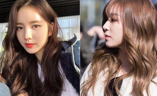 Màu tóc 2020 nâu tây đẹp tự nhiên chuẩn gái Hàn Quốc