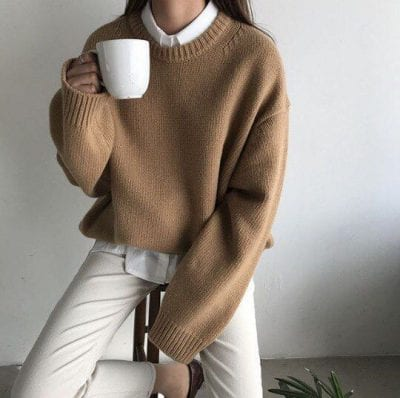 Áo sweater + Áo sơ mi: Ảnh 3