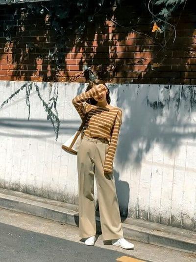 Áo sweater + Quần ống rộng Ulzzang: Ảnh 3