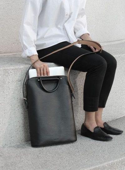 Túi xách gam màu đen cơ bản - Ảnh 2