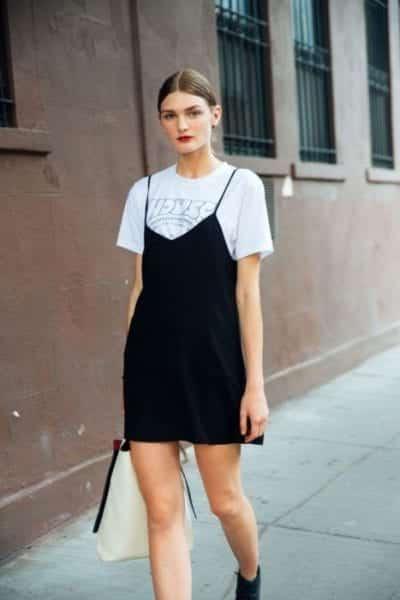 Slip dress kết hợp cùng áo thun - Ảnh 3