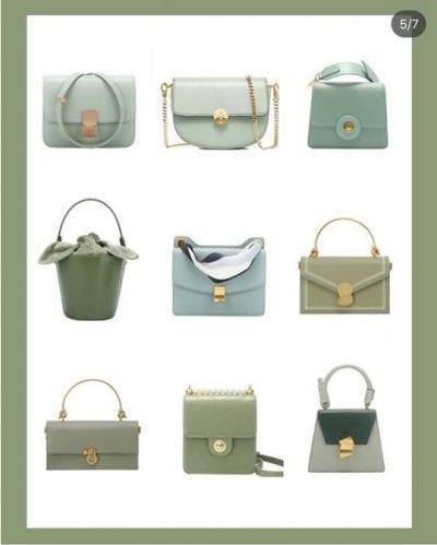 Những mẫu túi xách mới nhất với gam màu xanh lá pastel lạ lẫm