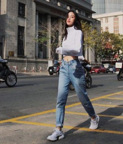 Cách chọn quần jean cho dáng người quần jean cho dáng người thước kẻ - Ảnh 2