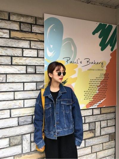 Áo khoác denim/jean là mẫu áo khoác thu đông hot hit nhất - Ảnh 2