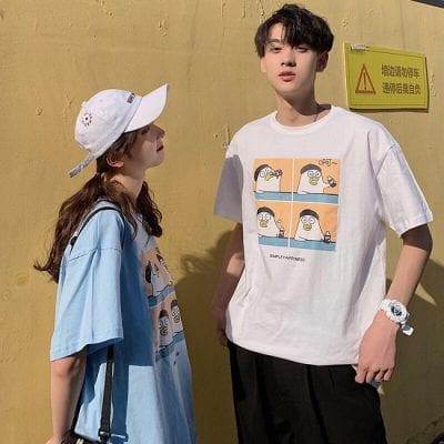 Áo thun tay lỡ cho các cặp đôi tại Bum shop