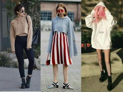 Một số kiểu dáng Hoodie hiện đại mang lại sự trẻ trung và phong cách mới lạ cho người mặc