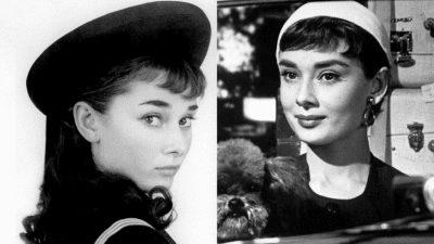 Audrey Hepburn năm 1950 xuất hiện đầy thu với vẻ đẹp duyên dáng cùng chiếc mũ beret thanh lịch và tao nhã
