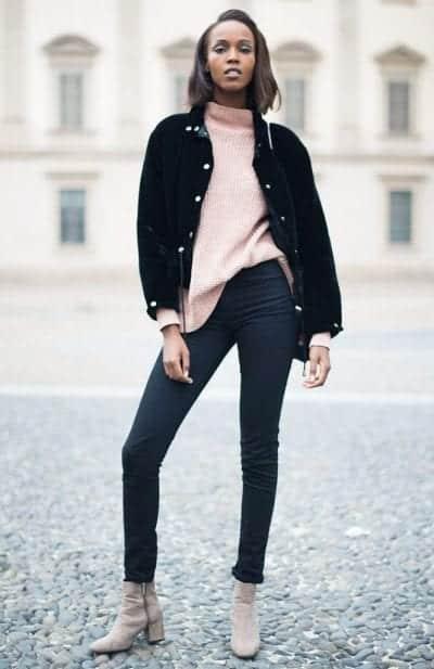 Boots cổ ngắn với Quần jeans