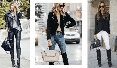 Quần jeans vốn là item ưa thích để phối cùng bốt cao cổ