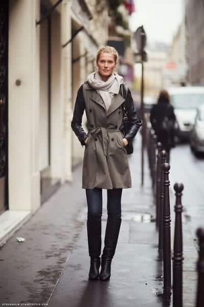 Áo vest dáng dài với bốt cao cổ sẽ là set đồ hoàn hảo cho mùa đông
