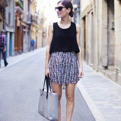 Áo Tank Top + Chân váy