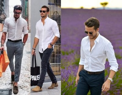 Năng động, thời trang, thu hút với sơ mi trắng
