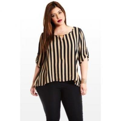 Áo sọc dọc, mẫu áo cho những cô nàng béo