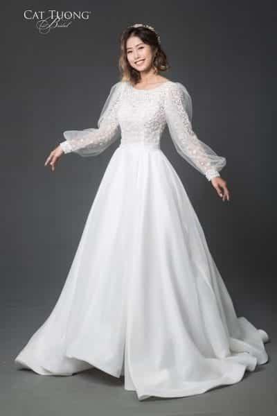 Mẫu váy cưới tại Cát Tường Bridal