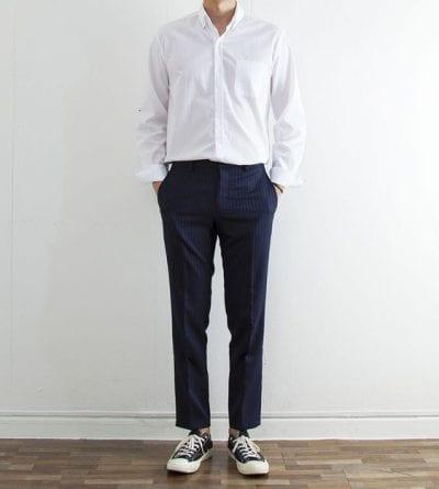 cách phối đồ nam với áo sơ mi trắng