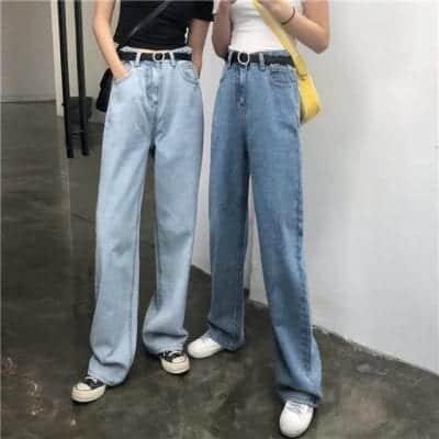 Converse+ quần jean suông dài + croptop
