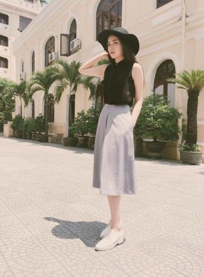 Quần Culottes có độ dài ngang bắp chân là lựa chọn hợp lý nhất cho phái nữ