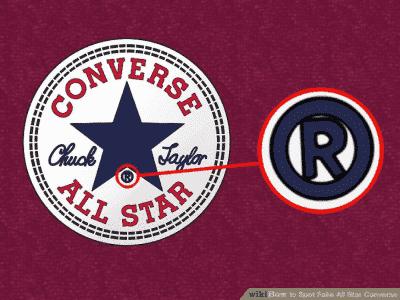 Chi tiết logo Converse thật