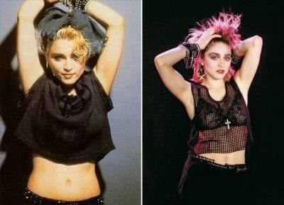 "Ngôi sao Madonna trong MV ""Lucky Star"""