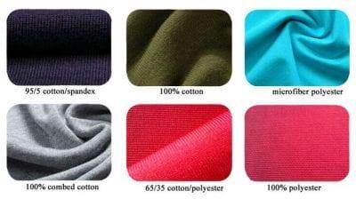 Áo thun được làm từ đa dạng các loại chất liệu