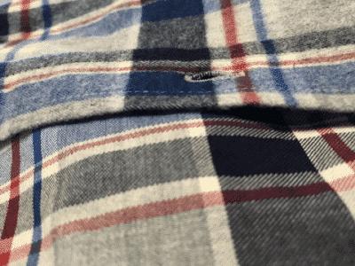 Cận cảnh áo sơ mi vải flannel