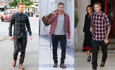 David Beckham cũng rất ưa chuộng phong cách casual với áo sơ mi flannel