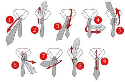 Hướng dẫn các bước thắt cà vạt kiểu Full Windsor Tie Knot