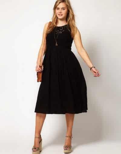 Thon gọn hơn với những chiếc váy màu tối