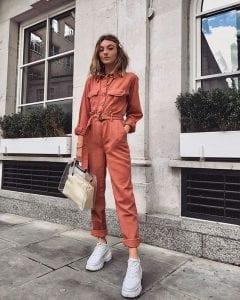 Gợi ý diện đồ bắt trend xu hướng thời trang thu – đông 2019 – Boiler suit
