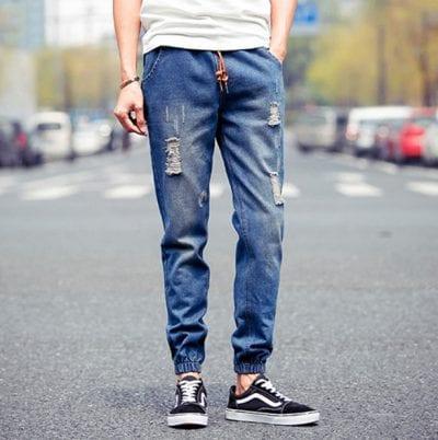 Jogger jean bền và dày dặn