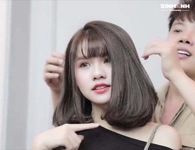 Kiểu tóc dập phồng tại Sinh Anh Hair