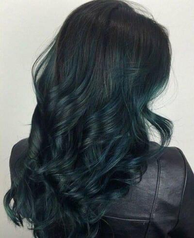 kieu toc mau xanh reu dep nhat 2019 1 5 35 Kiểu tóc màu xanh rêu đẹp nhất năm 2020 – 2021