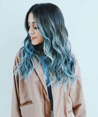 Tóc lọn nhỏ màu xanh rêu