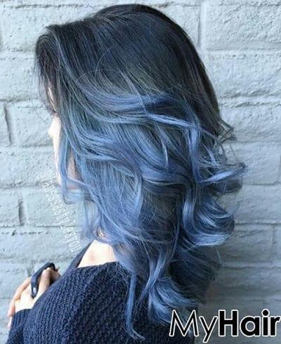 Màu tóc xanh rêu lạnh