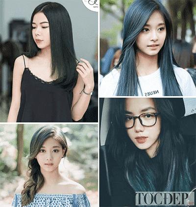 Tóc màu xanh rêu trầm