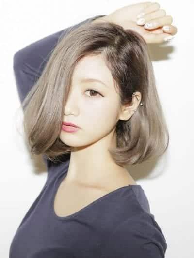 Tóc ngắn mái dài cho mặt dài