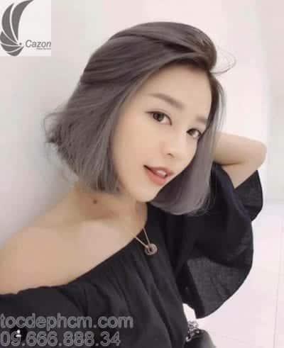 Tóc ngắn cho mặt dài gầy