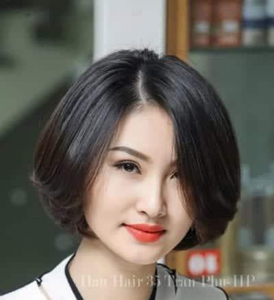 Kiểu tóc ngắn uốn phồng đẹp