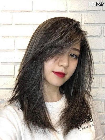 Tóc ngang vai có hợp với mặt dài